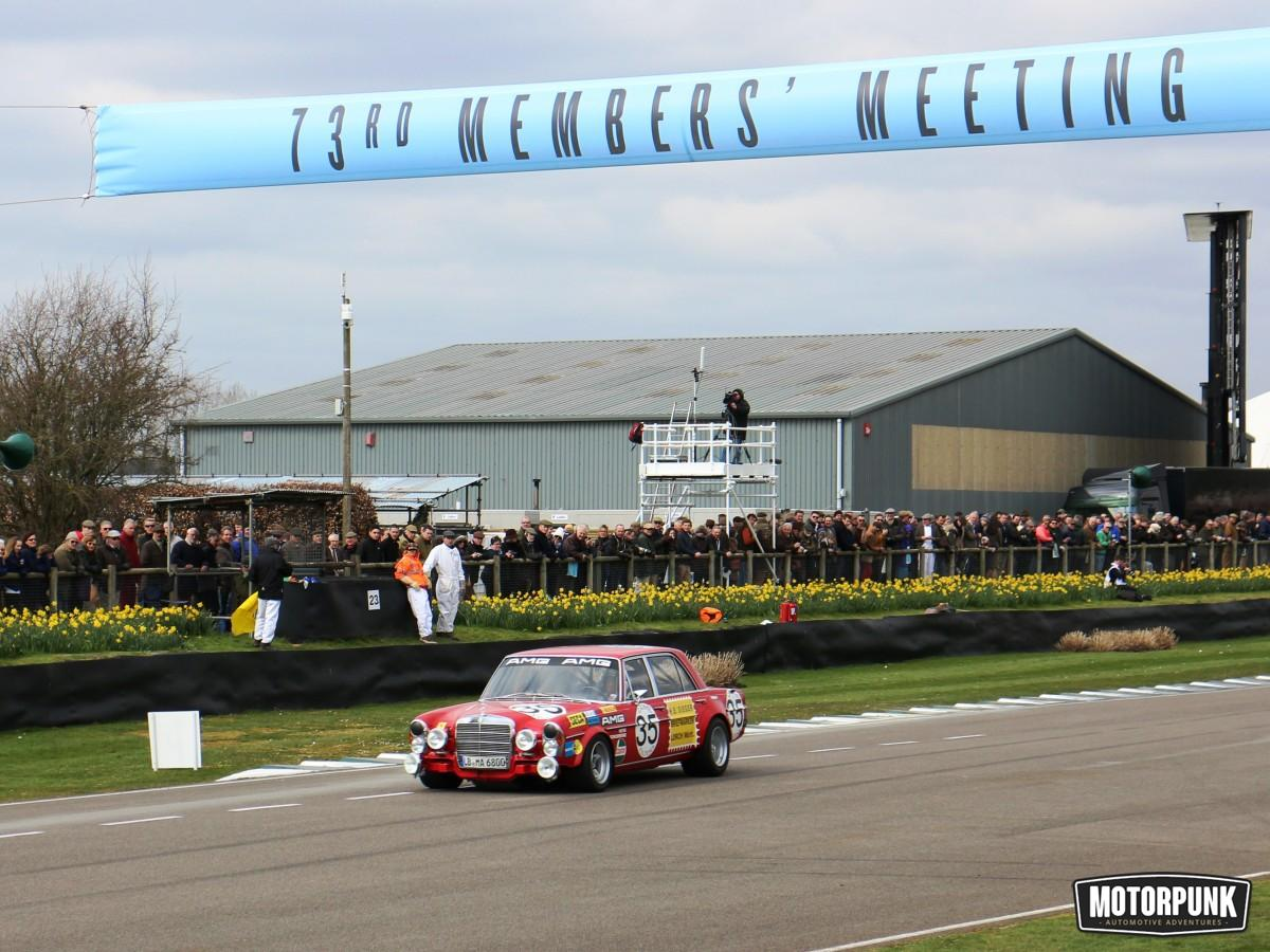 flying amg merc at goodwood