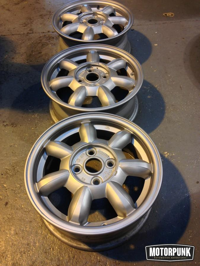 14 inch mx5 daisywheel alloy wheels refurbished