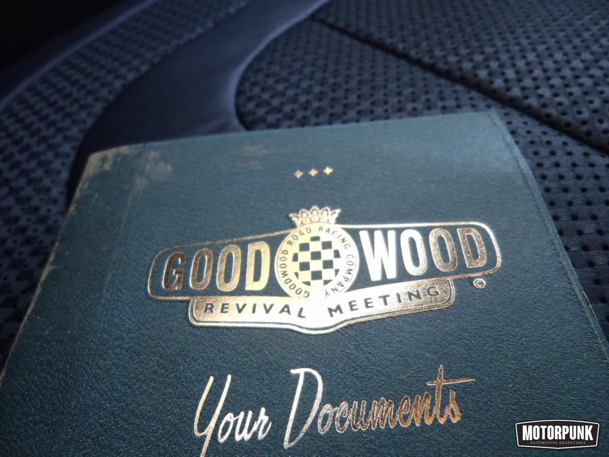 Goodwood tickets come in this lovely retro folder