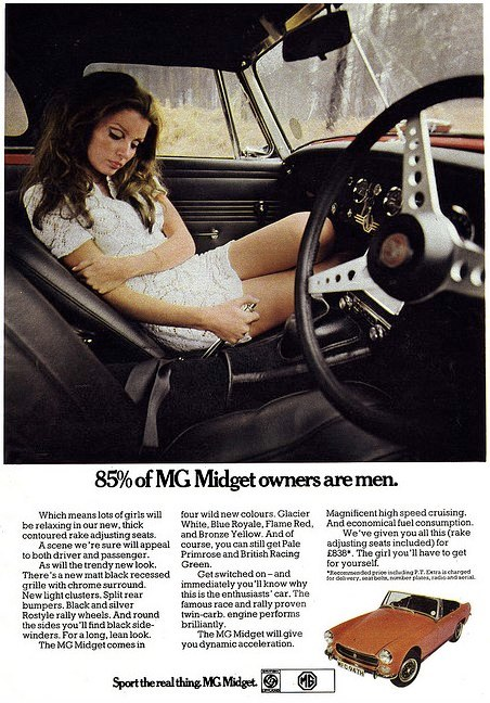 1970 MG Midget Advert