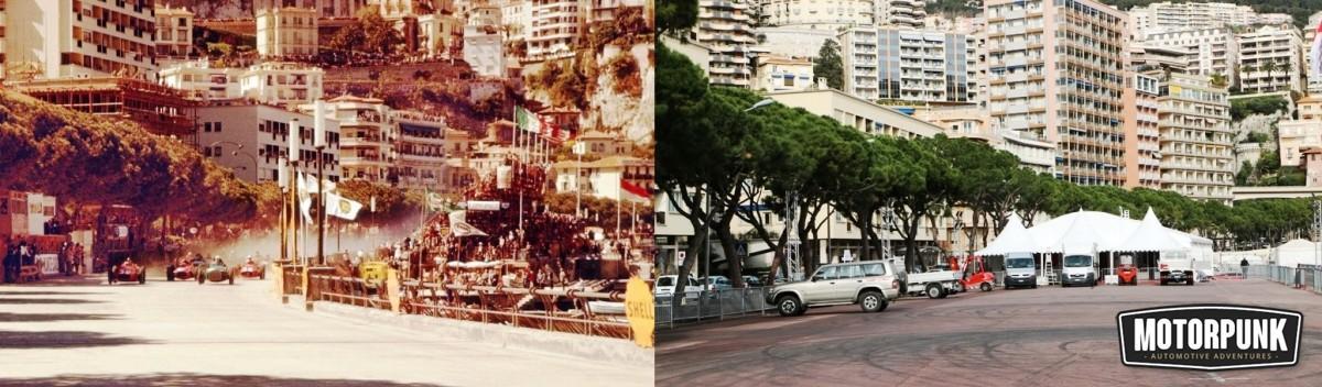 monaco grand prix start line 1957 then and now